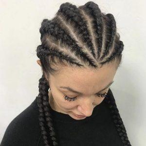 Cornrows Feed In Ghana Tribal Braids HairbyGrace Book Black Afro London Mobile Hairstylist Near Me Braider FroHub