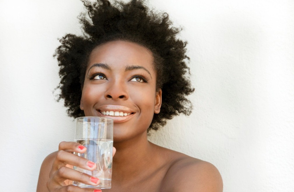 Drink Water Healthy Afro Hair