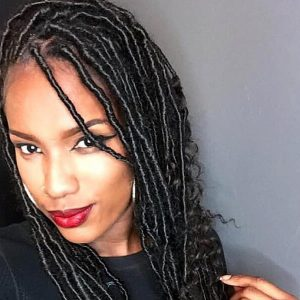 Faux Goddess Bohemian Soft Locs Shoulder Length Jojosbraids Book Mobile Afro Hairstylist Braider Appointment FroHub