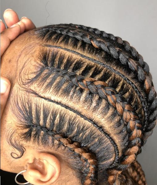Feed In Stitch Braids Lemonade Cornrows CustomCornrows Book Black Afro London Mobile Hairdresser Near Me Braider FroHub