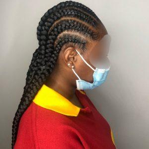Feed In Stitch Ghana Braids Cornrows CustomCornrows Book Black Afro London Mobile Hairdresser Stylist Near Me Braider FroHub