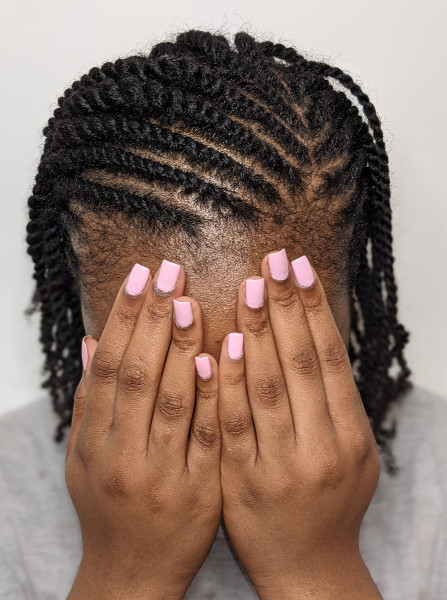 Flat Mini Twists Braids Natural Hair Book Black Afro London Mobile Hairdresser Itoju Near Me Braider FroHub