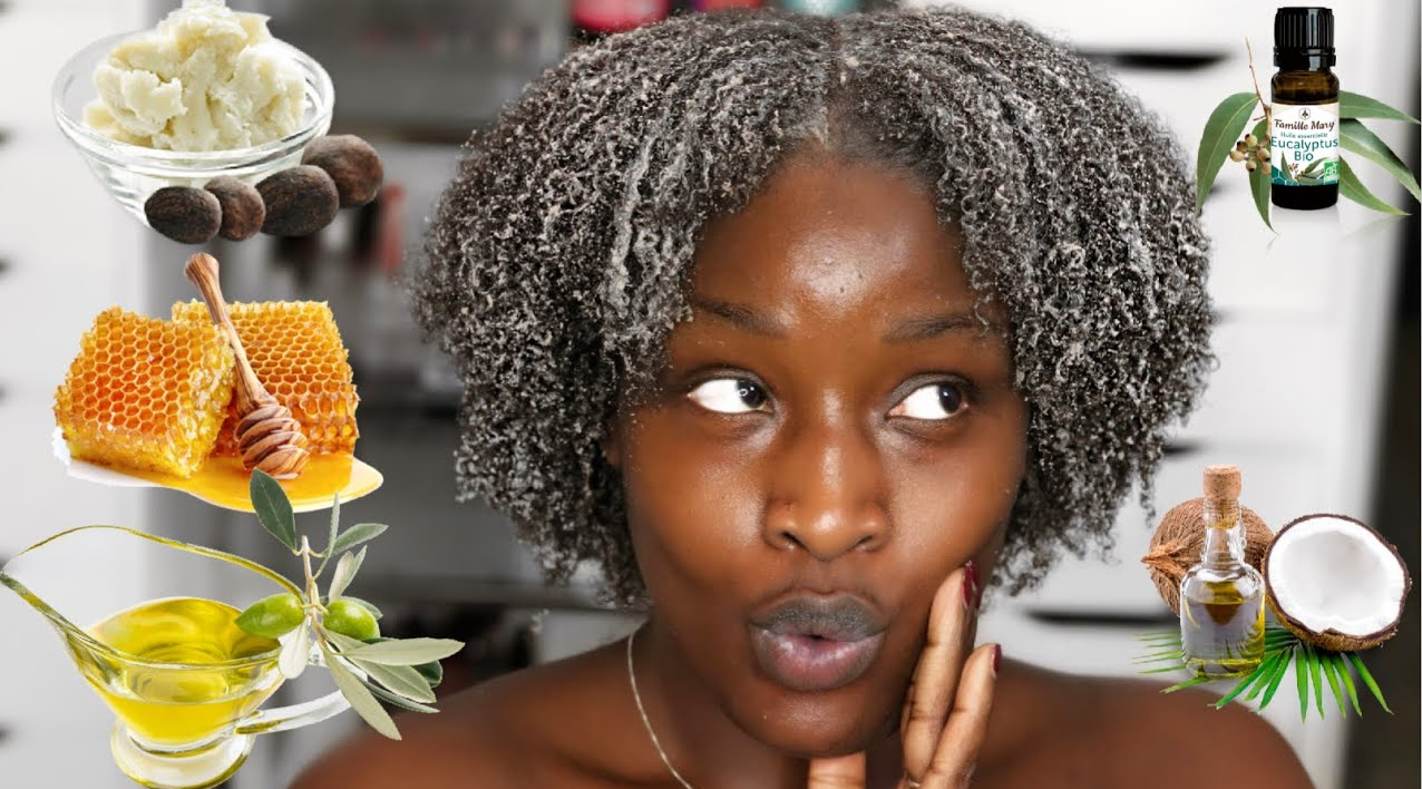 Afro Curly Hair Mask Homemade DIY