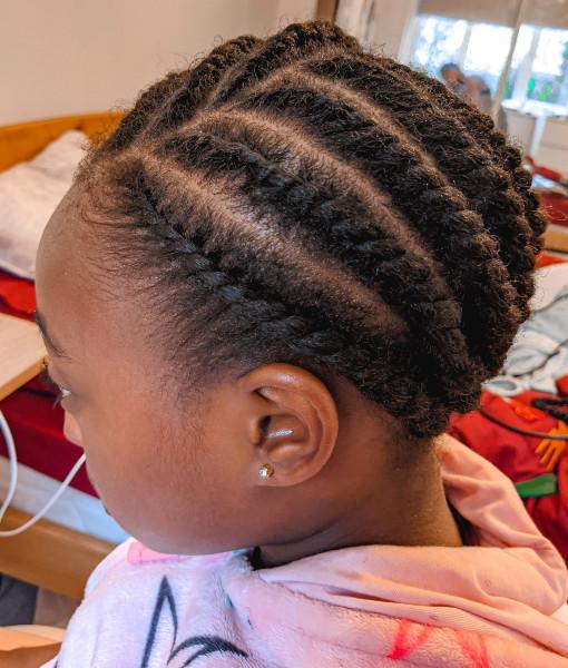 Kids Flat Twists Braids Natural Hair Book Black Afro London Mobile Hairdresser Itoju Near Me Braider FroHub