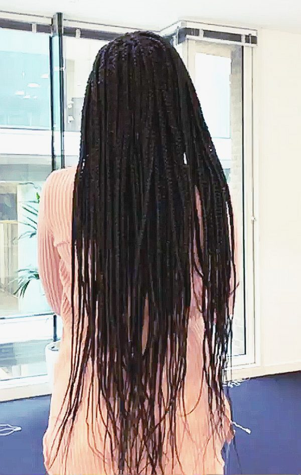 Knotless Box Braids Bum Length Book Black Mobile Hairstylist Lovely Braids UK FroHub