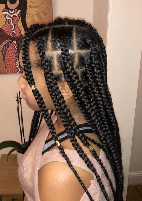 Knotless Box Braids Large Book London Afro Mobile Hairstylist NaturallyG FroHub