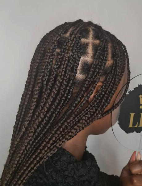 Knotless Box Braids LottaHairandBeauty Book Black Afro London Mobile Hairdresser Braider Near Me FroHub