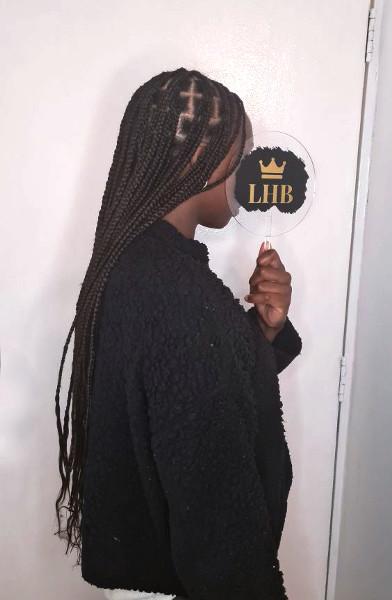 Knotless Box Braids LottaHairandBeauty Book Black Afro London Mobile Hairdresser Salon Braider Near Me FroHub
