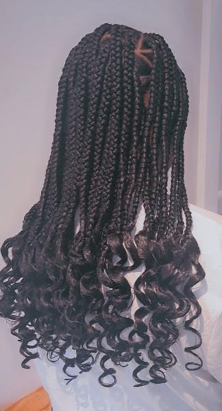 Triangle Box Braids WhitneiiHairLounge Book Black Afro London Hair Stylist Near Me FroHub