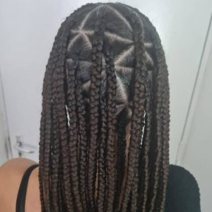 Triangle Knotless Box Braids LottaHairandBeauty Book Black Afro London Mobile Hairstylist Salon Braider Near Me FroHub