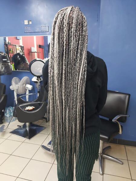 Box Braids Waist Length Luemas Book London Afro Hairdresser Braider FroHub