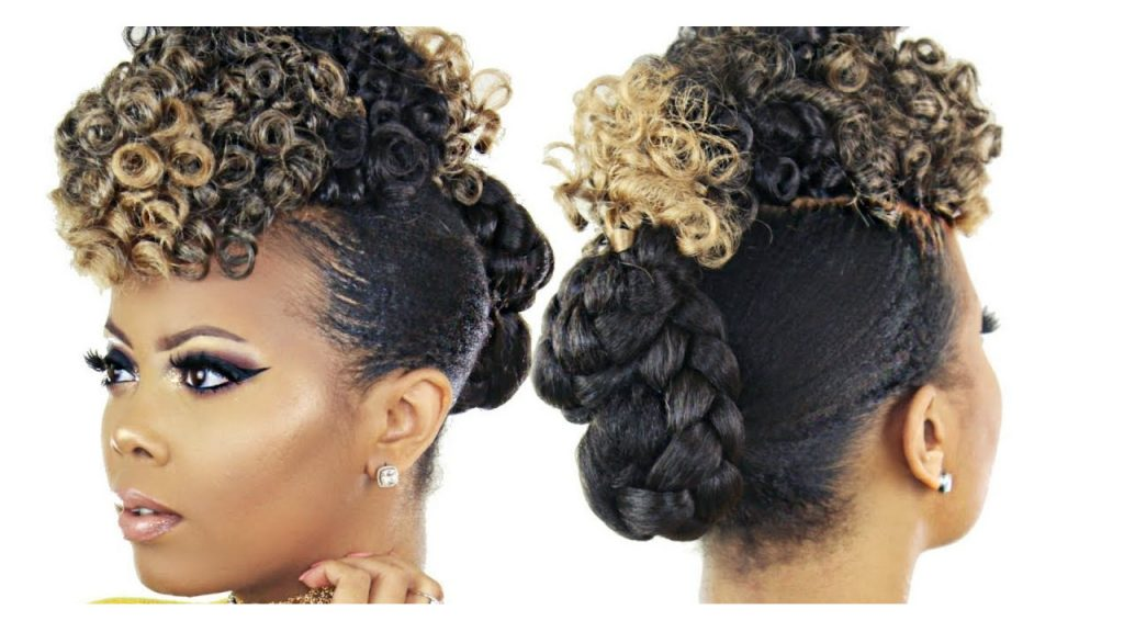 Curly Crochet Faux Hawk Braidless Hair Tutorial FroHub