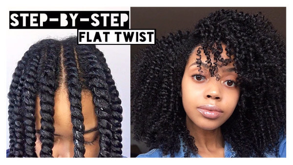 How to Flat Twist Out on Natural Afro Curly Hair Tutorial FroHub