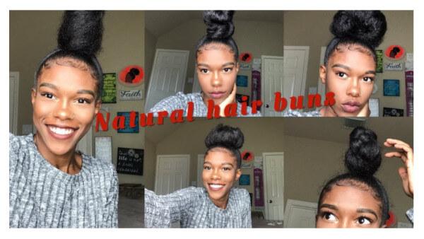 How to do a Sleek High Bun on Natural Hair Tutorial FroHub