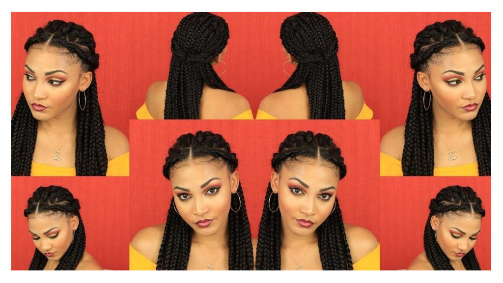How to Style Box Braids Hair Tutorial FroHub