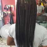 Knotless Box Braids Mid Back Length Luemas Book London Afro Hairdresser Braider FroHub