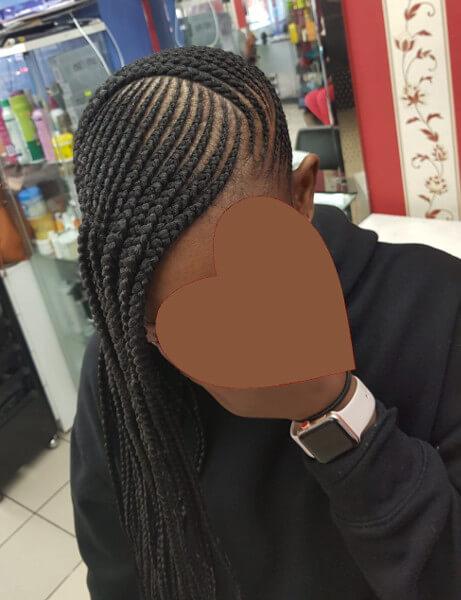 Lemonade Ghana Feed In Cornrow Braids Luemas Book London Afro Hair Salon Braider FroHub