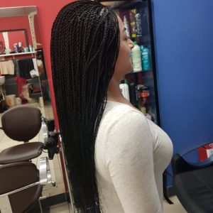 Micro Braids Mid Back Length Luemas Book London Afro Hairdresser Braider FroHub