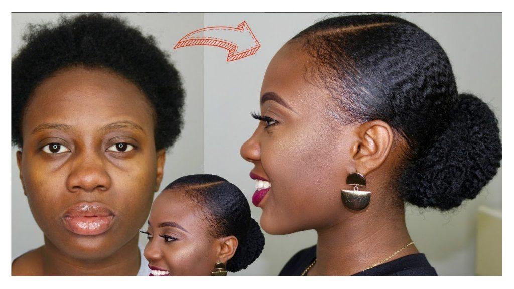 Sleek Faux Bun on Natural Hair Tutorial FroHub