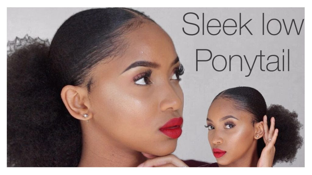 Sleek Low Ponytail on Natural Hair Tutorial FroHub