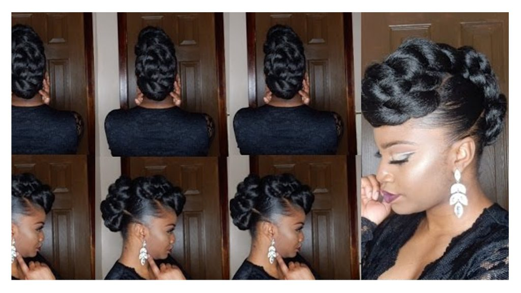 Twisted Faux Hawk Updo Hair Tutorial FroHub