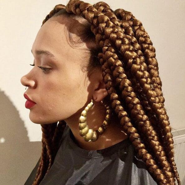 Box Braids Jumbo Waist Length Jojosbraids Book London Afro Hairstylist Braider Appointment FroHub