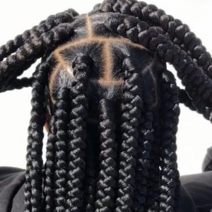 Box Braids Large Waist Length Jojosbraids Book London Afro Hairstylist Braider Appointment FroHub