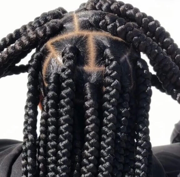 Box Braids Large Waist Length Jojosbraids Book London Afro Hairstylist Braider Appointment FroHub