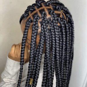 Box Braids Medium Waist Length Jojosbraids Book London Afro Hairstylist Braider Appointment FroHub