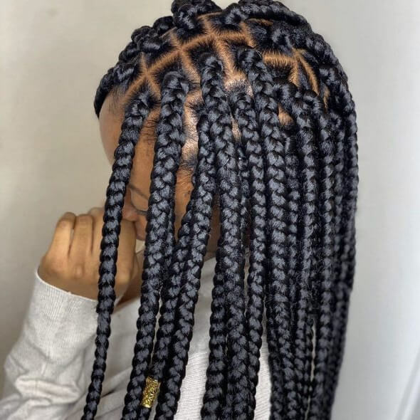 Box Braids Medium Waist Length Jojosbraids Book London Afro Hairstylist Braider Appointment FroHub