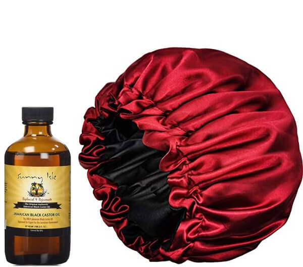 How to grow regrow my edges hair jamaican black castor oil silk satin bonnet FroHub