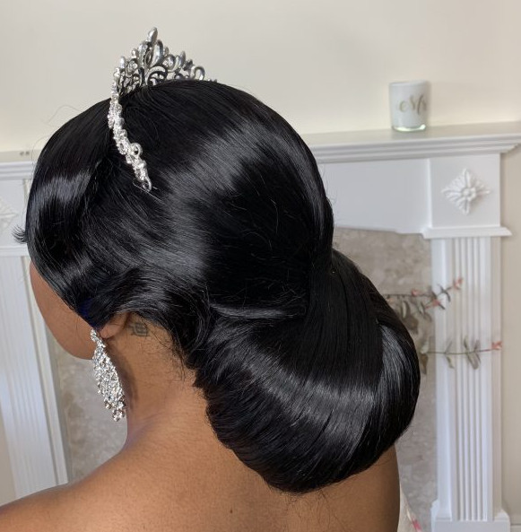 Bridal Wedding Updo Afro Hairdresser Wig Maker Weave Lace Frontal Book London UK Black Hair Salon Near Me Symmetry Beauty FroHub
