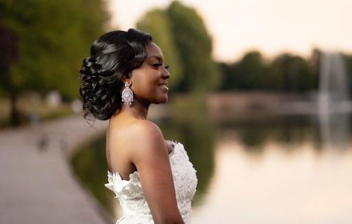 Bridal Wedding Afro Hairdresser Wig Maker Weave Lace Frontal Updo Classy Book London UK Black Hair Salon Near Me Symmetry Beauty FroHub