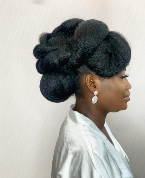 Afro Bridal Wedding Hairdresser Book London UK Black Natural Hair Styling Salon Near Me Symmetry Beauty FroHub