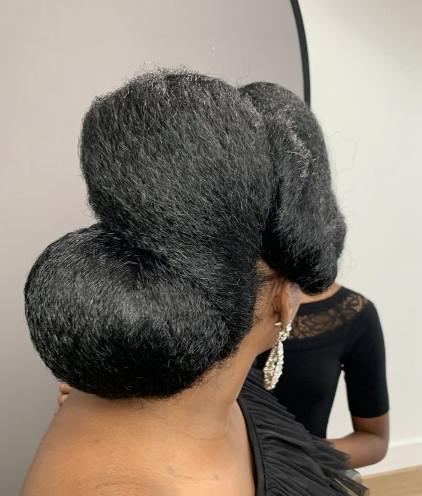 Afro Bridal Wedding Hairdresser Book London UK Black Hair Salon Near Me Symmetry Beauty FroHub