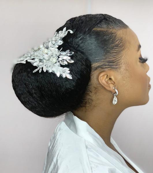Afro Bridal Wedding Hairdresser Book London UK Black Hair Salon Near Me SymmetryBeauty FroHub