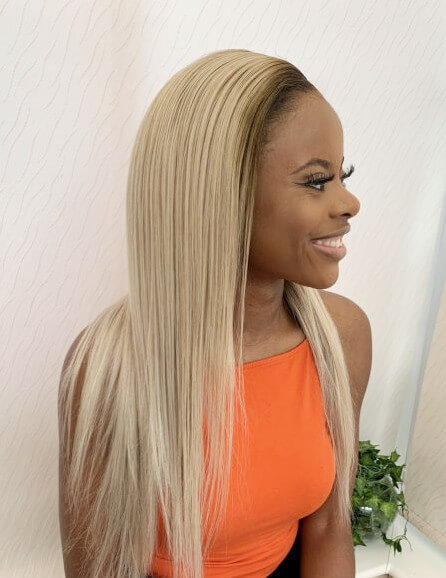 Custom Blonde Hair Colour Frontal Closure Wig Weave Maker SymmetryBeauty Book Black Afro London Hairdresser Appointment FroHub