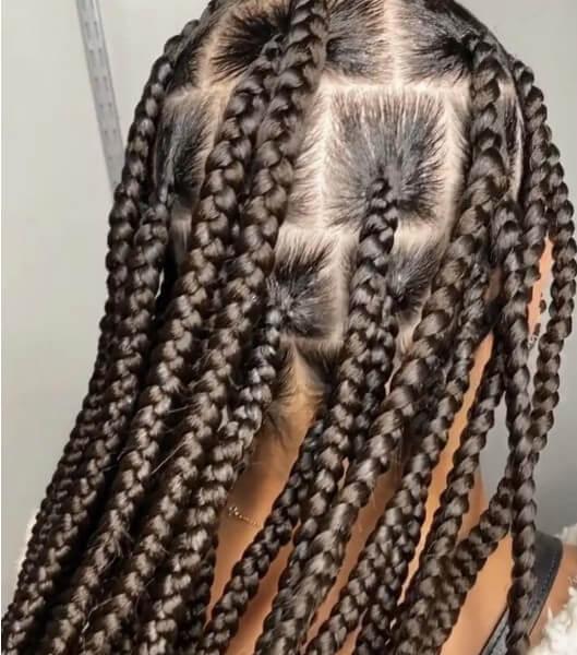 Knotless Box Braids jumbo Waist Length Jojosbraids Book London Afro Hairstylist Braider Appointment FroHub