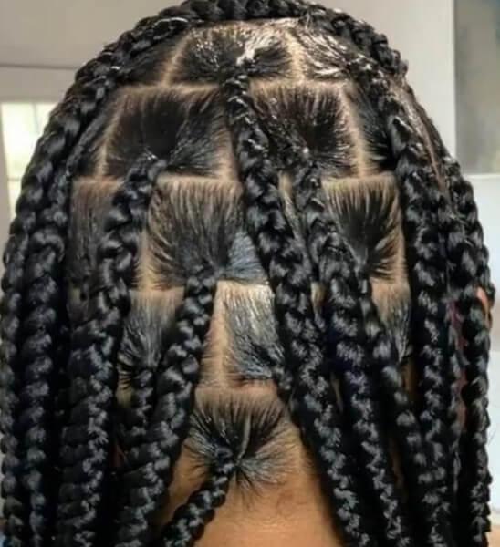 Knotless Box Braids large Waist Length Jojosbraids Book London Afro Hairstylist Braider Appointment FroHub