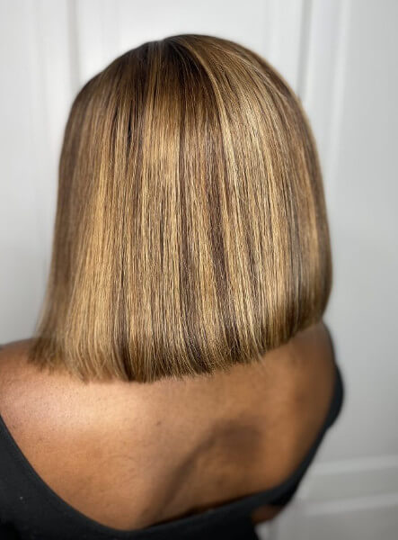 Light Brown Blonde Highlights Lace Frontal Wig Weave Maker Symmetry Beauty Book Black Afro London Hair salon Appointment FroHub
