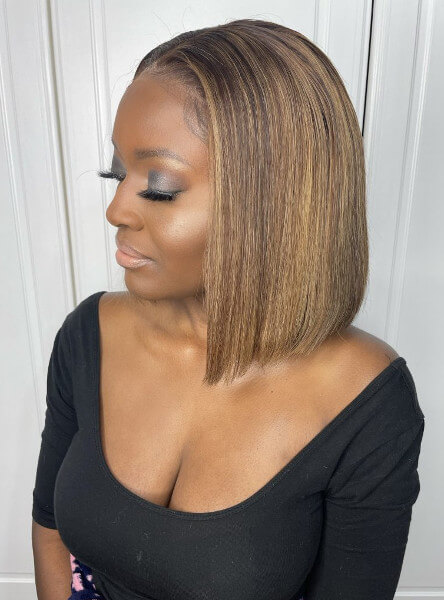 Light Brown Blonde Highlights Lace Frontal Wig Weave Maker Symmetry Beauty Book Black Afro London Hair stylist Appointment FroHub