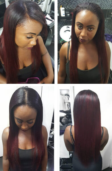 Weave Wig Red Hair Leave Out Hair Creativehairstyles Book Black Afro London Hairstylist Hairdresser FroHub