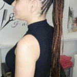 Feed In Stitch Braids Ponytail Lemonade Cornrows TamaraHairStudio Book Black Afro London Hairdresser Salon Near Me Braider FroHub